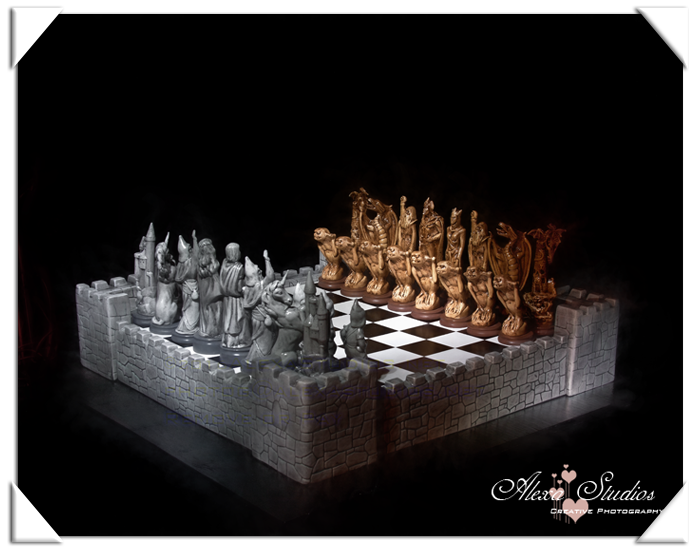 Chess Set – Light painted
