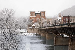 Alexa Studios - Owego, NY downtown bridge in Winter